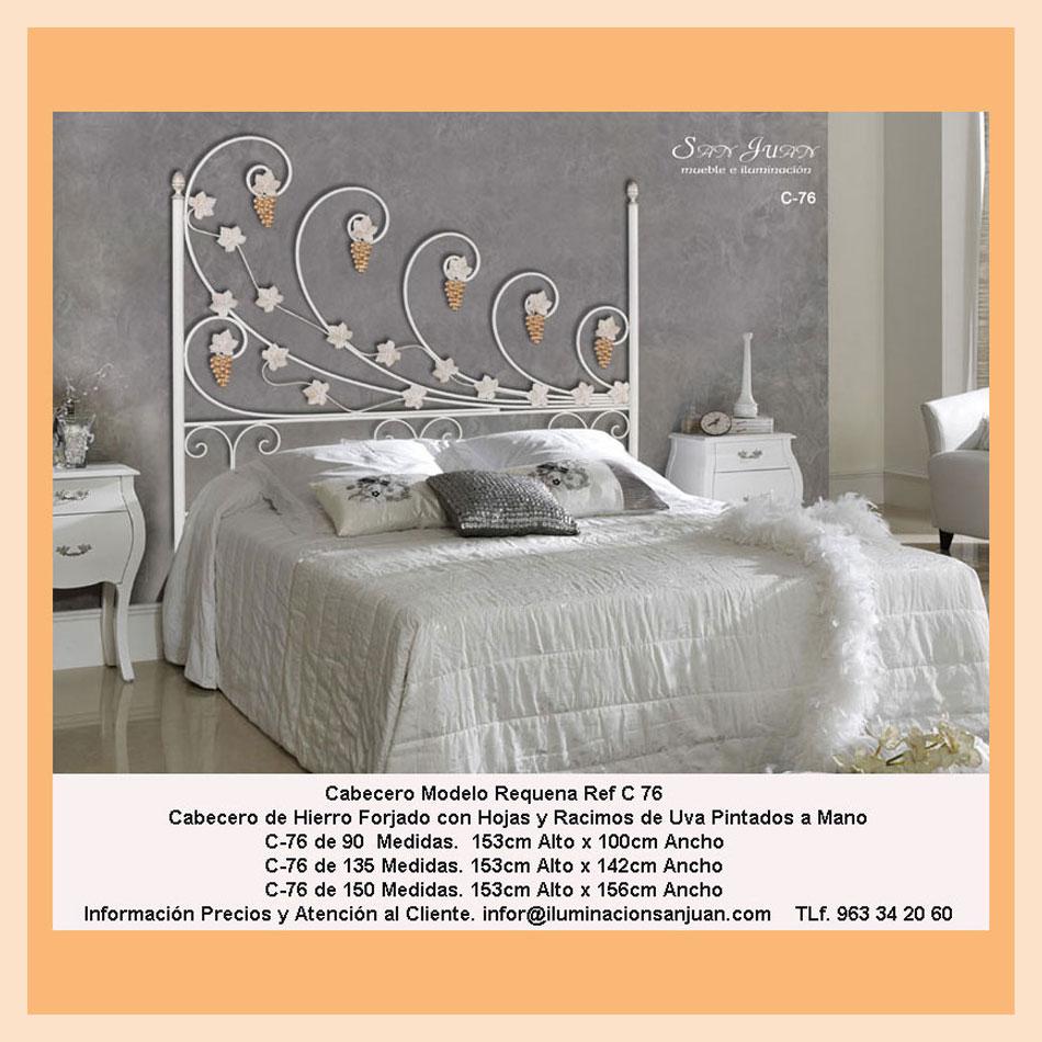 Moderno Cabeceros De Hierro Forjado Muebles De La Reina Festooning ...