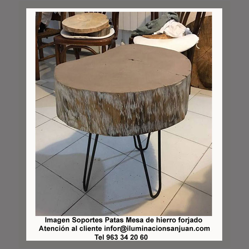 Patas de forja para mesa fabulous mesa de forja con pata cuadrada q with patas de forja para - Patas de forja para mesas ...